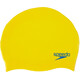 speedo Plain Moulded Silicone Cap Juniors Empire Yellow/Neon Blue